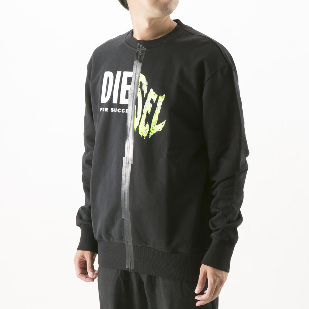 ディーゼル DIESEL メンズトップス S-BIAY-SPLIT SWEAT-SHIRT A00305/0KASL【FITHOUSE ONLINE SHOP】