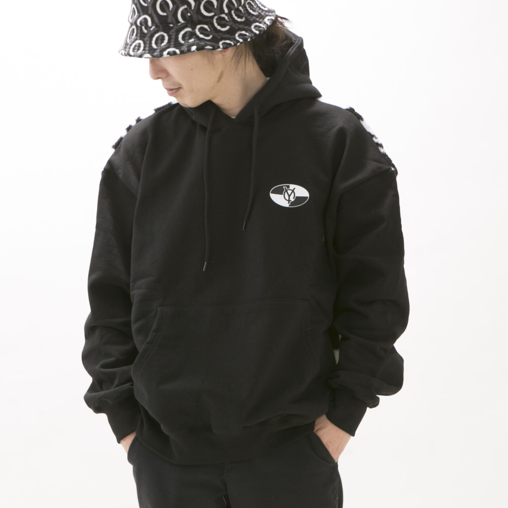 オーワイ OY メンズトップス BACK CHECK LOGO HOODIE【FITHOUSE ONLINE SHOP】