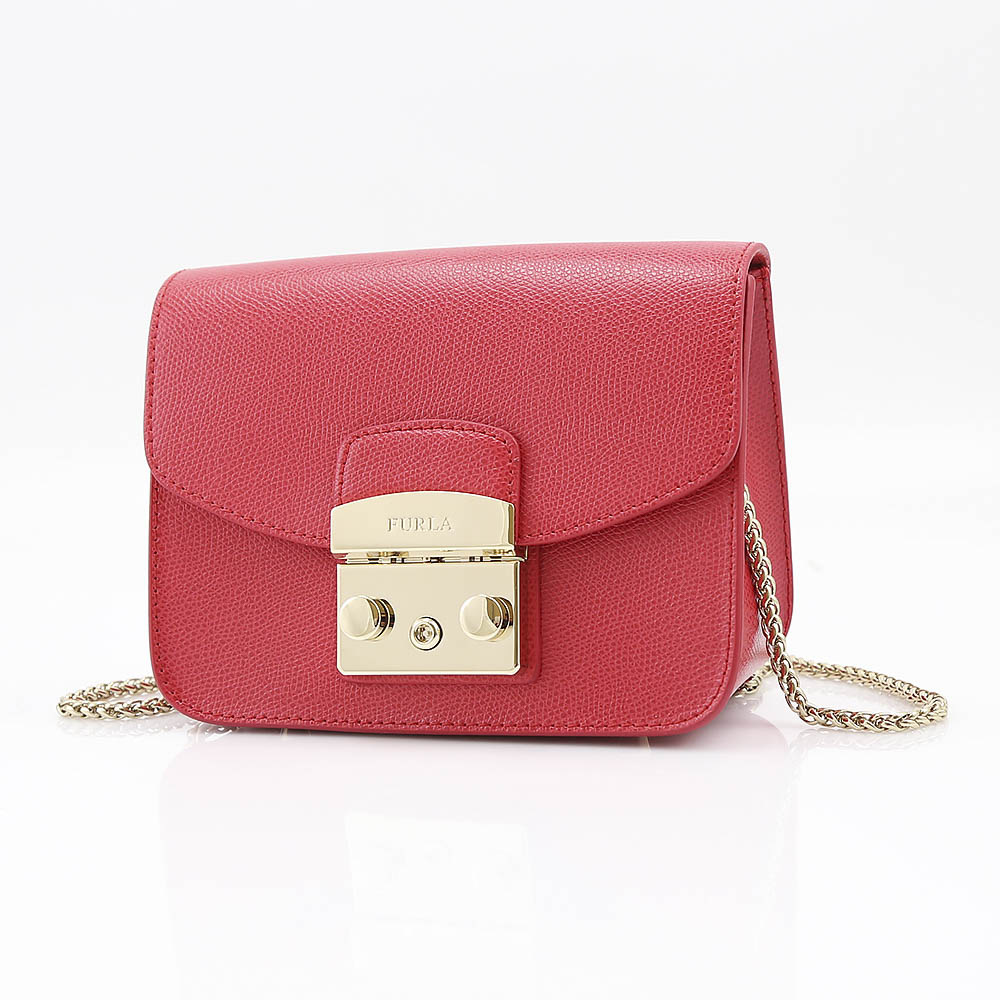 FURLA フルラ METROPOLIS MINI CROSSBODY ショルダーバッグ BGZ7-851170/RUBY レッド【FITHOUSE ONLINE SHOP】