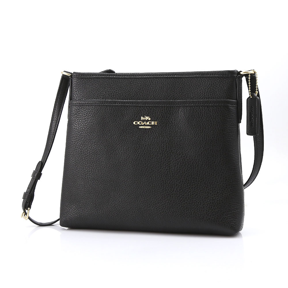 COACH OUTLET コーチアウトレット ペブルレザーファイルバッグ F28035/IMBLK ブラック【FITHOUSE ONLINE SHOP】