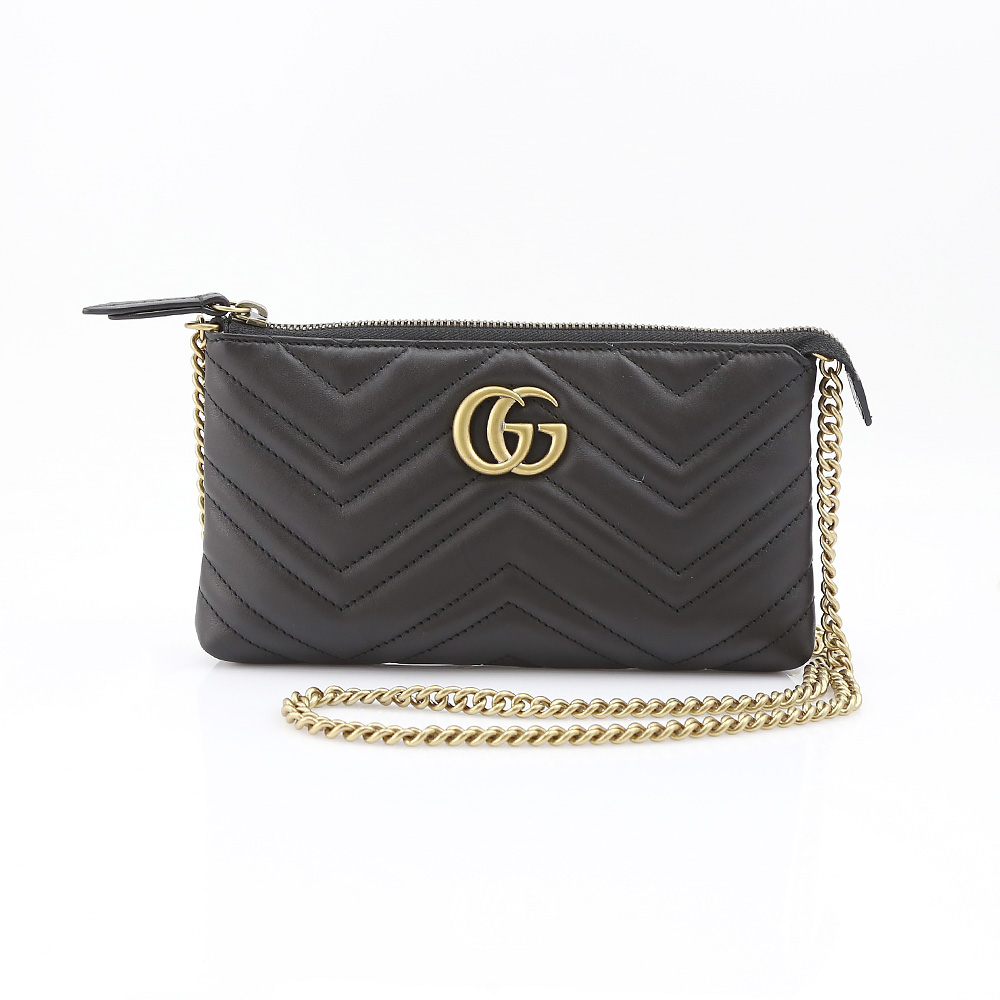 GUCCI グッチ  GG MARMONT2.0チェーンポーチ 443447DRW1T/1000 ブラック【FITHOUSE ONLINE SHOP】