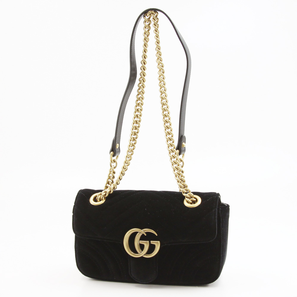 GUCCI グッチ  GG MARMONTベルベットミニSD 446744K4D2T【FITHOUSE ONLINE SHOP】