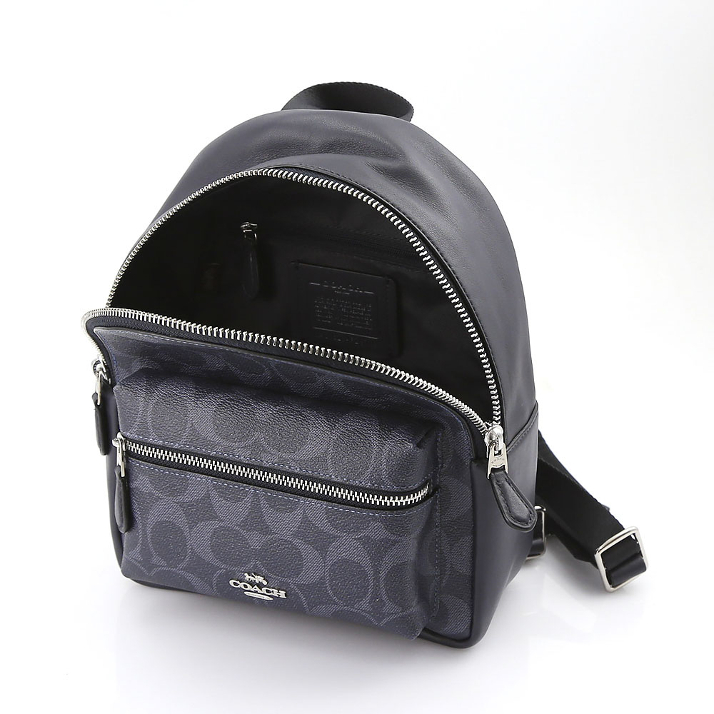 COACH OUTLET コーチアウトレット デニムチャーリーミニバックパック F29719/SVM2Q ネイビーブルー【FITHOUSE ONLINE SHOP】