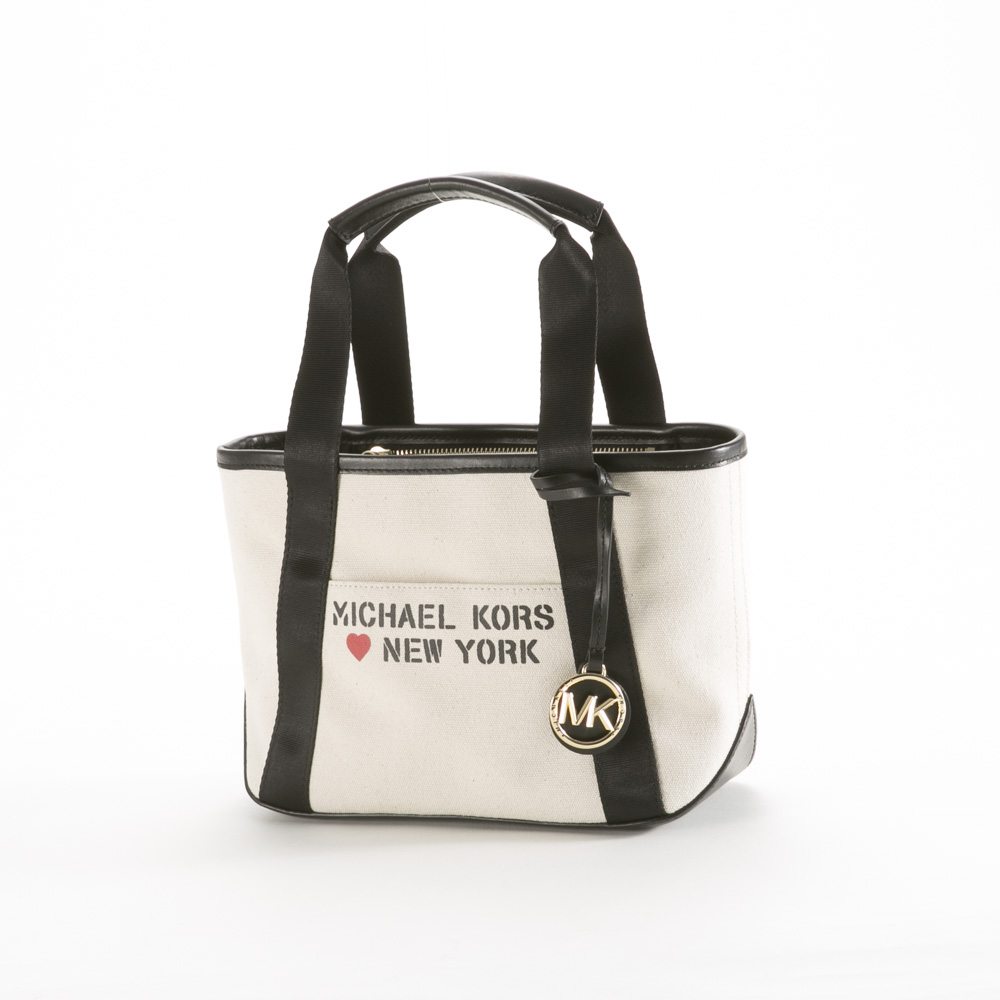 マイケルコース MICHAEL KORS トートバッグ THE MICHAEL SM キャンバス TOTE NEW YORK 30S0G01T7I【FITHOUSE ONLINE SHOP】