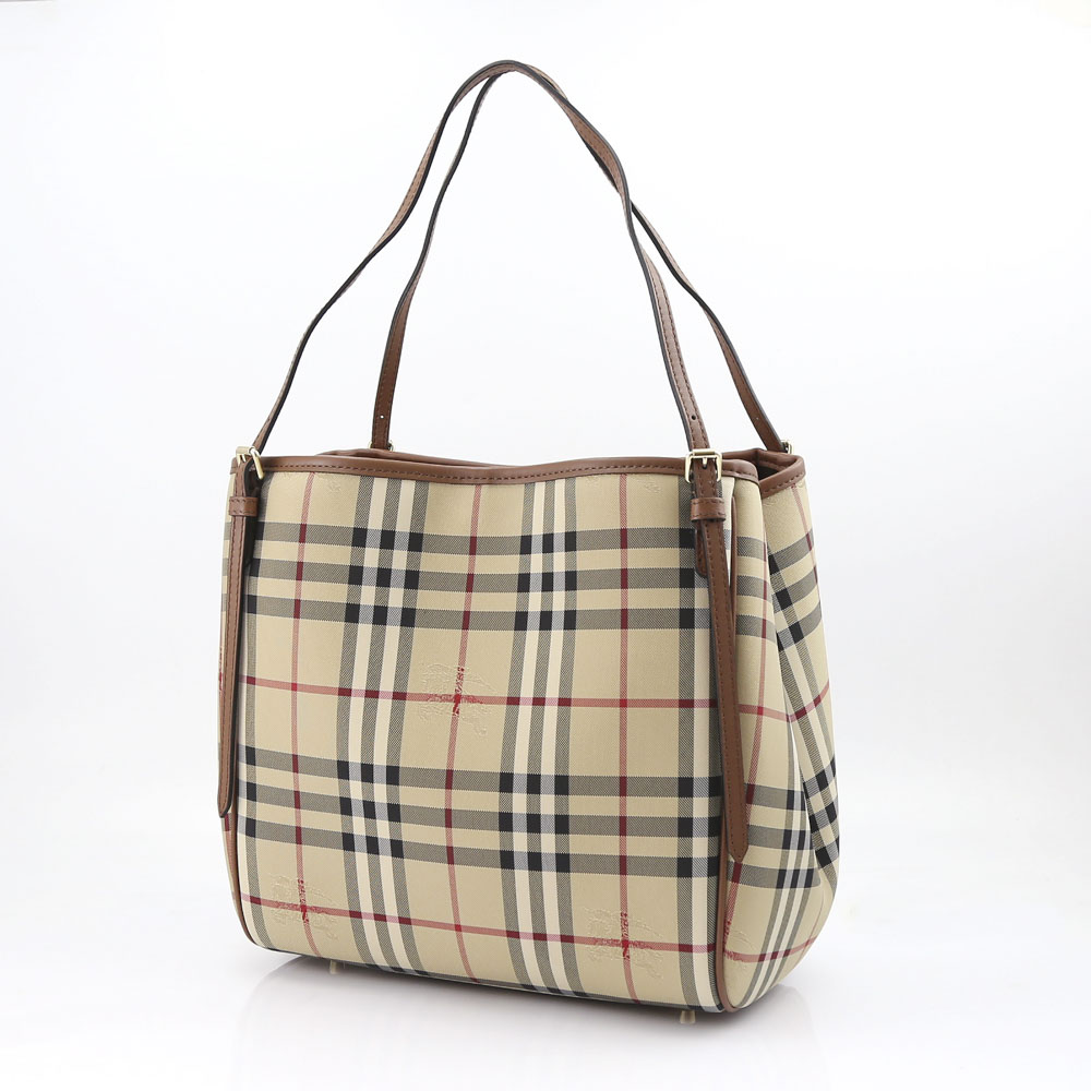 BURBERRY スモールカンターフォースフェリーチェックトート 4012453