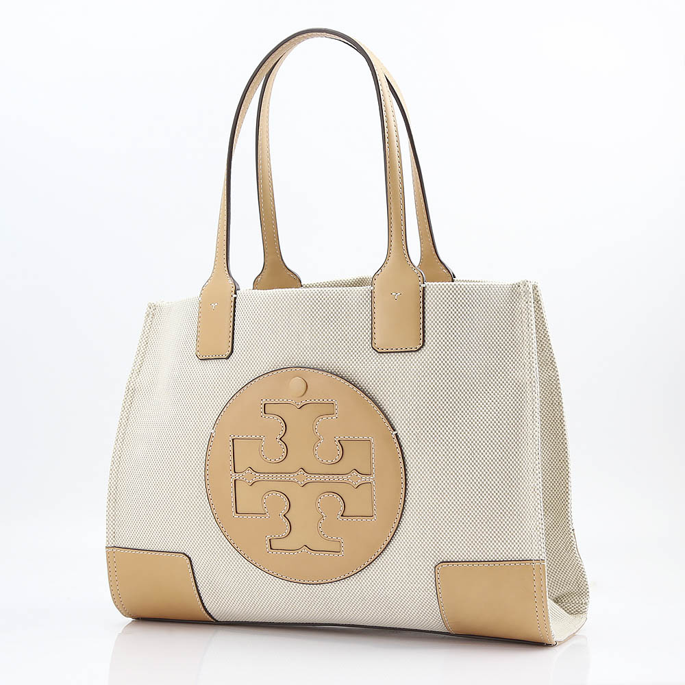 TORY BURCH トリーバーチ MINI ELLA CANVAS TOTE 45208/285NA-IV ベージュ/ホワイト
