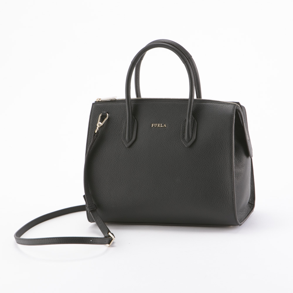 FURLA フルラ PIN M SATCHEL BMJ9-924675/ONYX ブラック【FITHOUSE ONLINE SHOP】