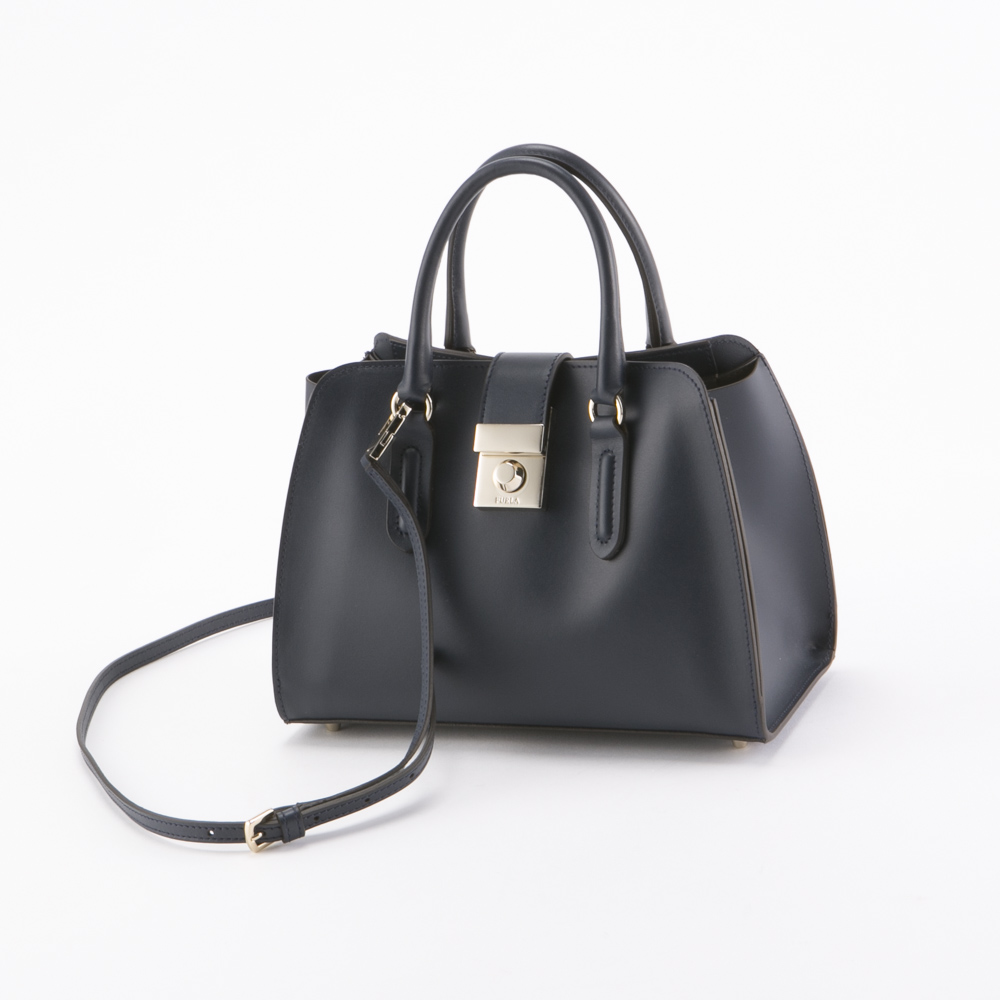 FURLA フルラ MILANO S TOTE BMQ2-921362/BLU ネイビーブルー【FITHOUSE ONLINE SHOP】