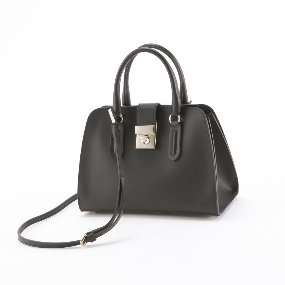 FURLA フルラ MILANO S TOTE BMQ2-921365/ONYX ブラック【FITHOUSE ONLINE SHOP】