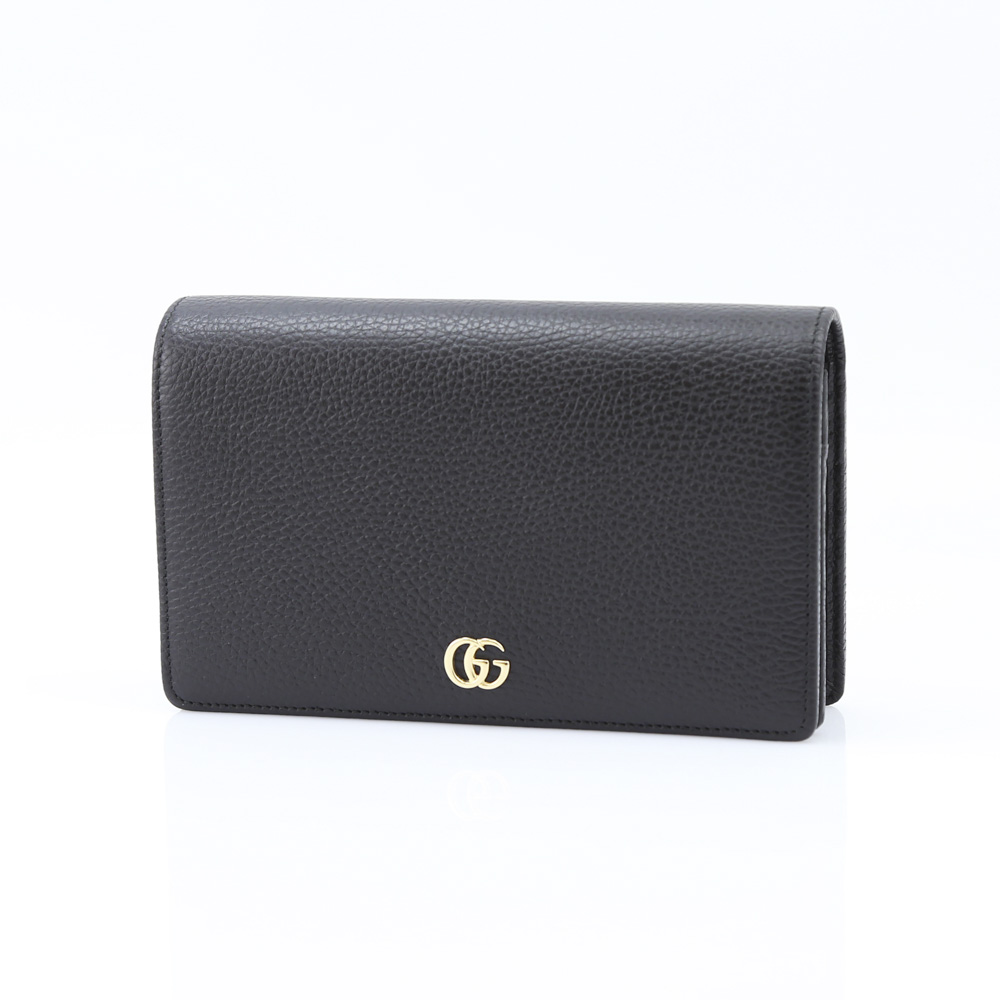 GUCCI グッチ PETITEMARMONTポシェット長 497985CAO0G/1000 ブラック【FITHOUSE ONLINE SHOP】
