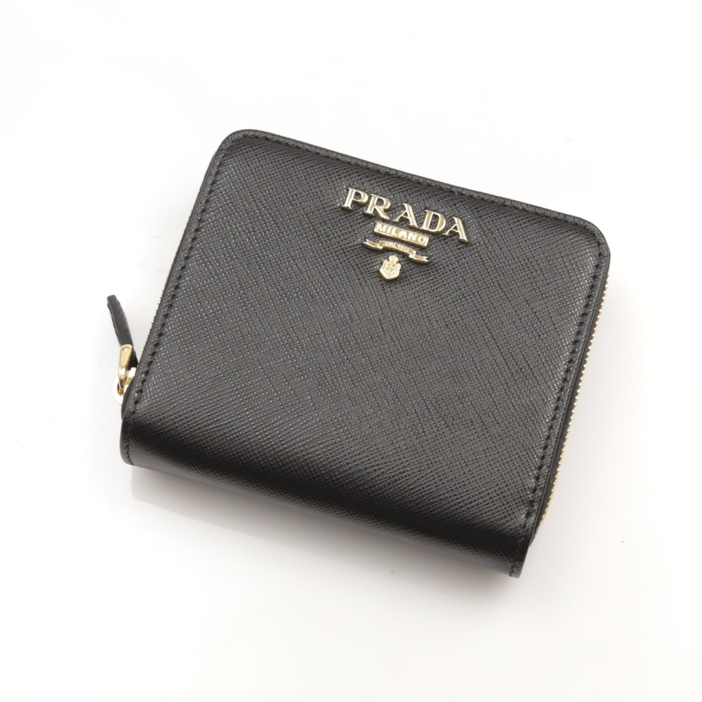 プラダ PRADA 折財布 SAF.METAL RF折外小銭/NERO 1ML036-QWA【FITHOUSE ONLINE SHOP】