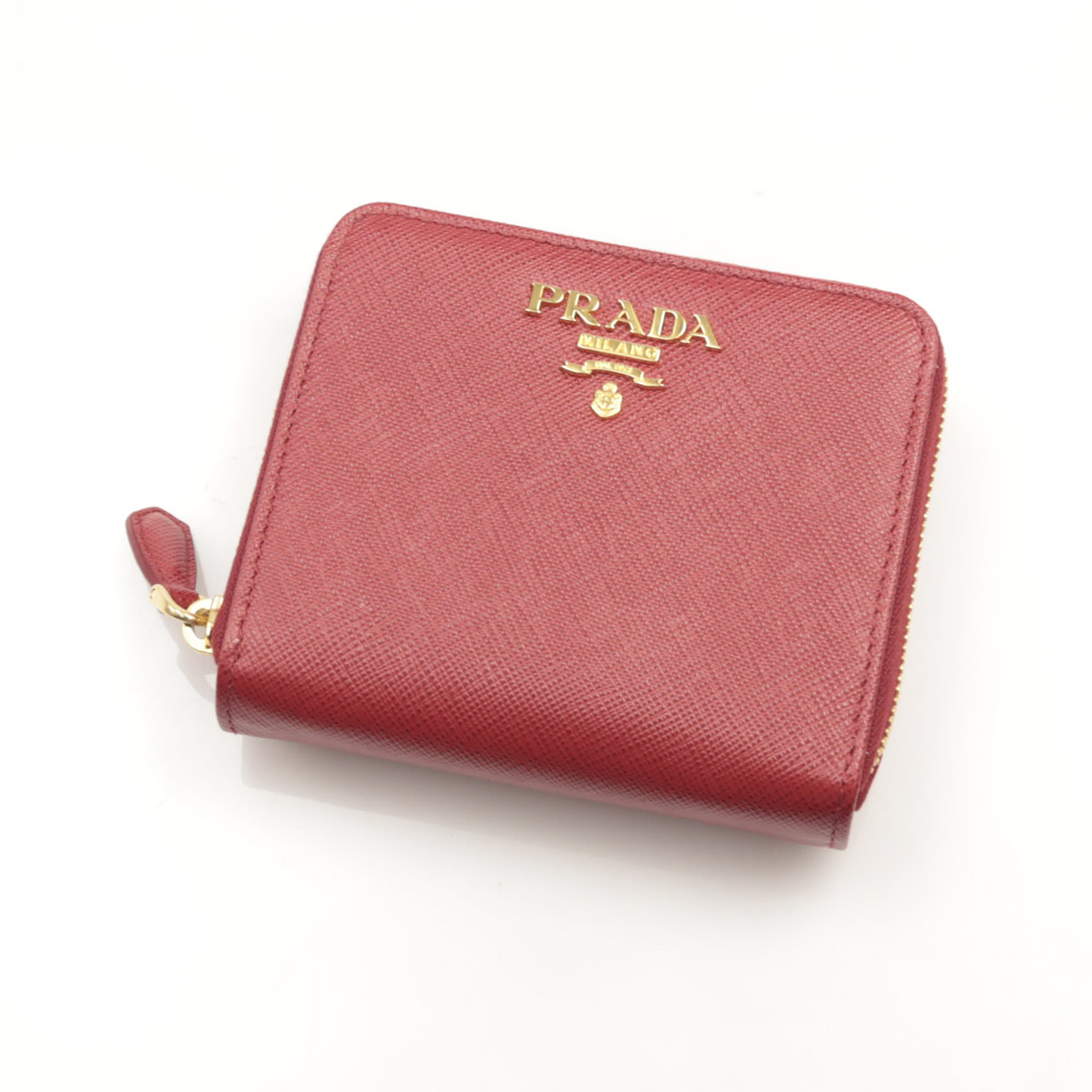 プラダ PRADA 折財布 SAF.METAL RF折外小銭/FUOCO 1ML036-QWA【FITHOUSE ONLINE SHOP】