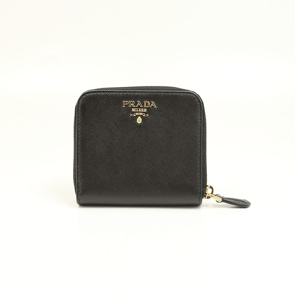 プラダ 折り財布 SAFFIANO METAL PRADA 1ML522 QWA NERO