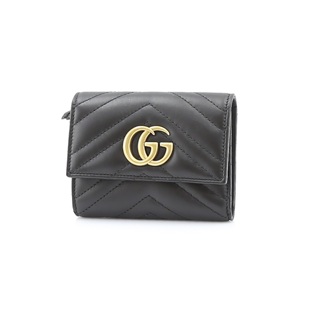 GUCCI  GG MARMONT2.0三折端F付 474802DRW1T ギフトラッピング無料