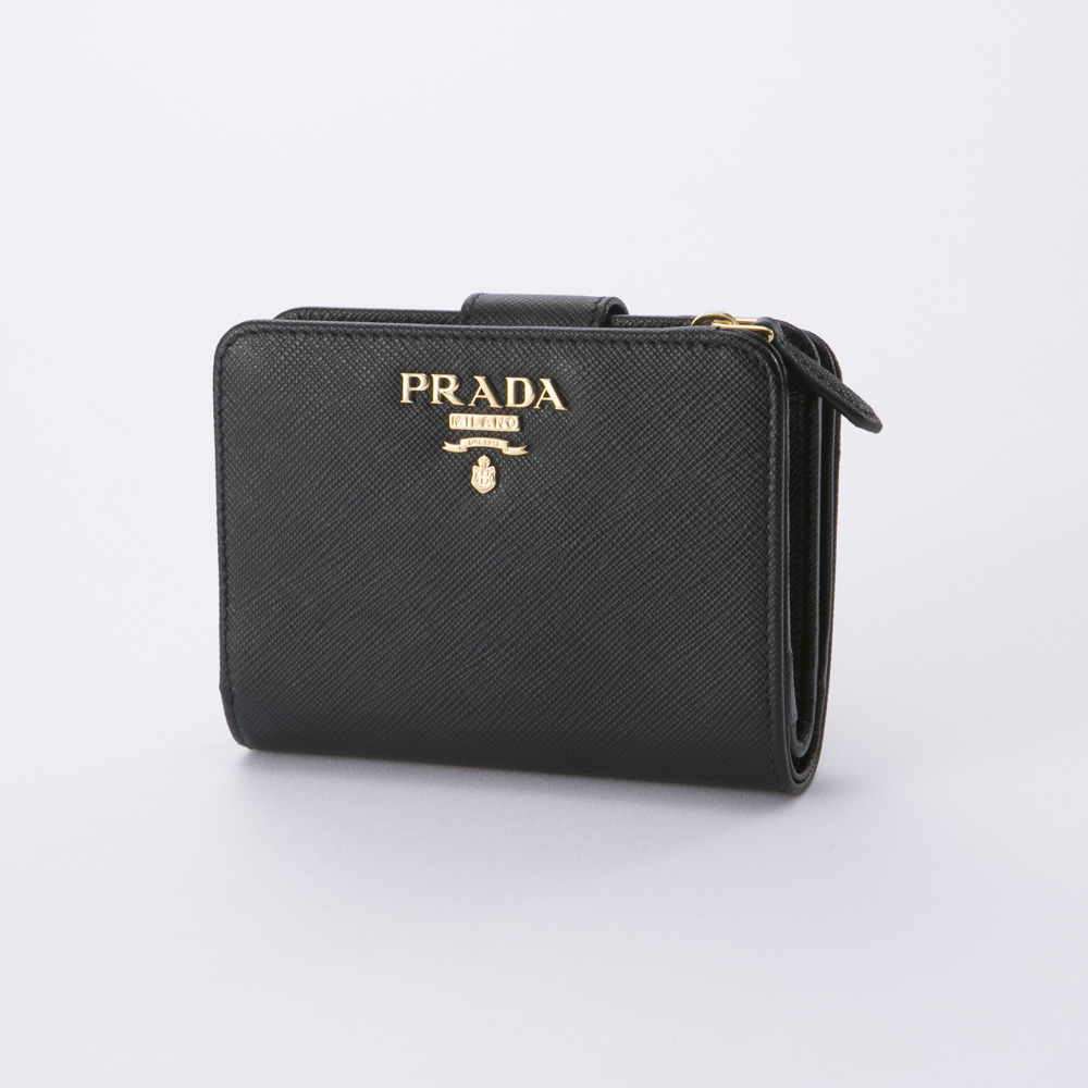 プラダ 折り財布 SAFFIANO METAL PRADA 1ML018 QWA NERO【FITHOUSE ONLINE SHOP】