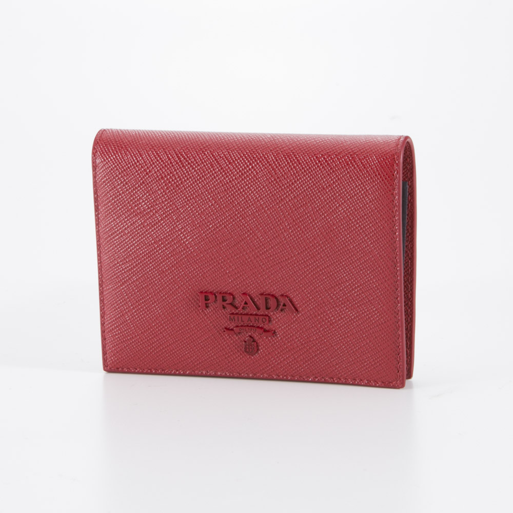 プラダ PRADA 折財布 SAF.SHINE折中小銭付/FUOCO 1MV204-2EBW【FITHOUSE ONLINE SHOP】