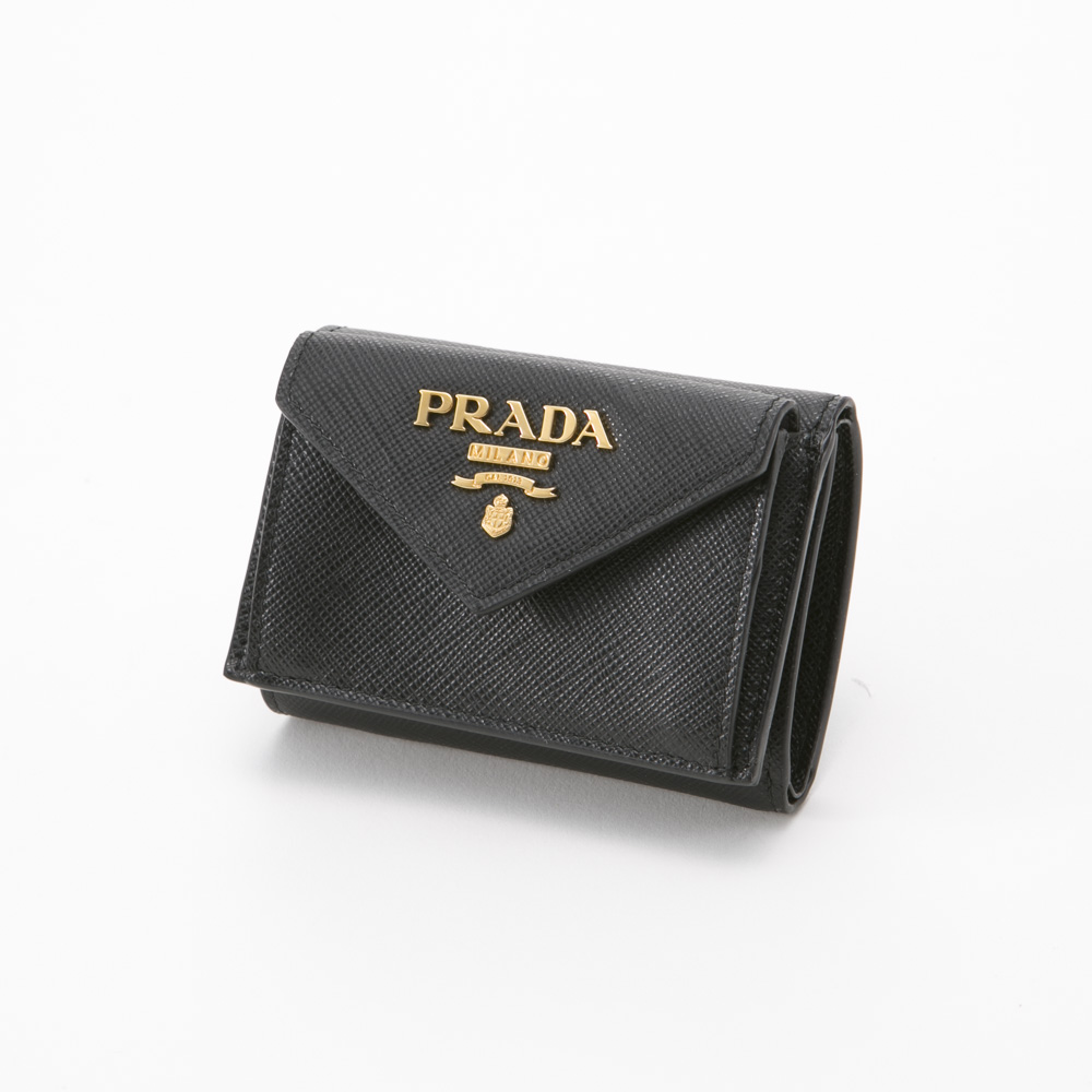プラダ PRADA ミニサイフ SAF.METAL三折TINY/NERO 1MH021-QWA【FITHOUSE ONLINE SHOP】