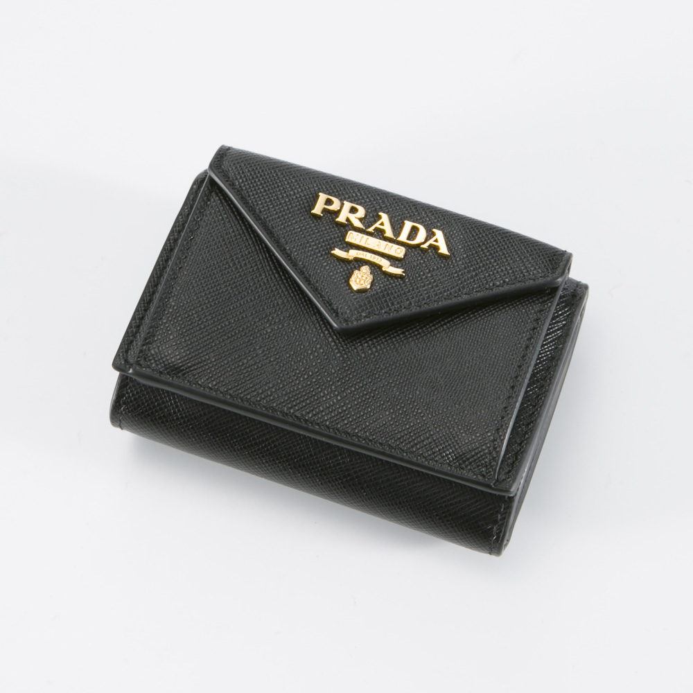 プラダ PRADA 折財布 SAF.METAL三折TINY/NERO 1MH021-QWA【FITHOUSE ONLINE SHOP】