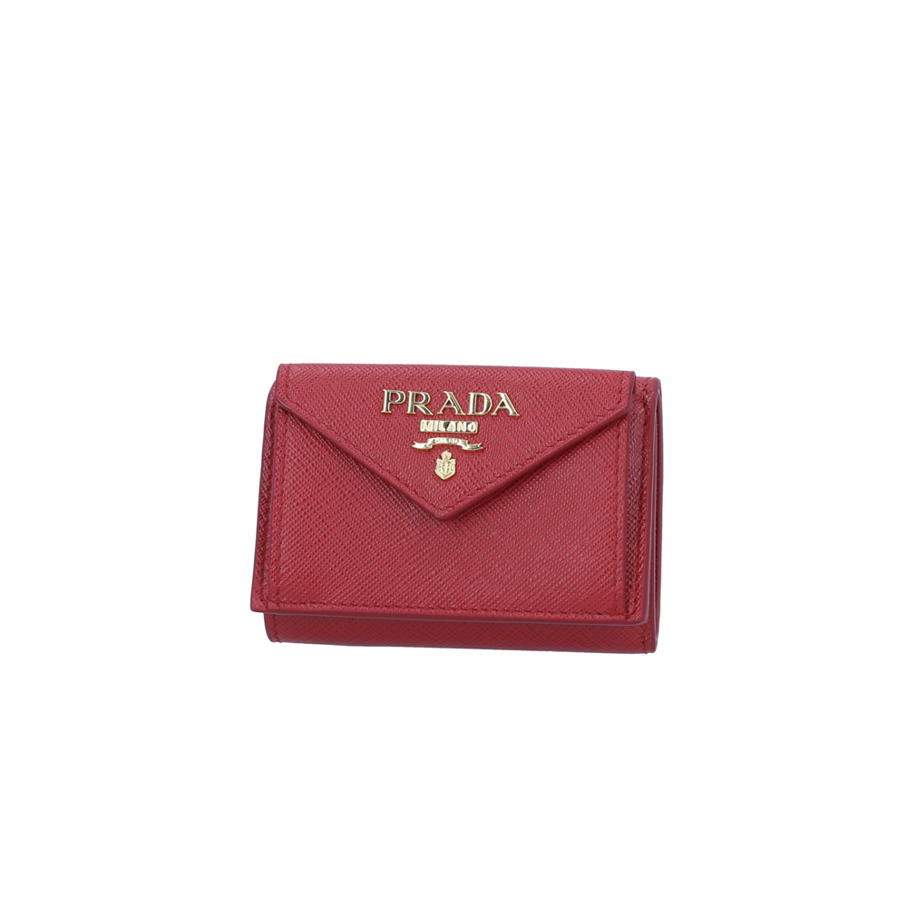 プラダ PRADA 財布 SAF.METAL三折TINY/FUOCO 1MH021-QWA【FITHOUSE ONLINE SHOP】