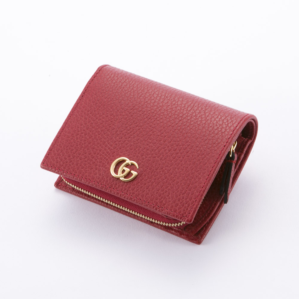 グッチ GUCCI 折財布 PETITEMARMONT TINY中F 546586CAO0G 6433 レッド 【FITHOUSE ONLINE SHOP】