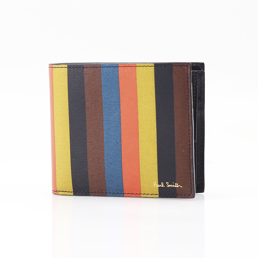 Paul Smith ポールスミス BRIGHT STRIPE折財布小銭付 AUXC4833/W785A-96 コンビ【FITHOUSE ONLINE SHOP】