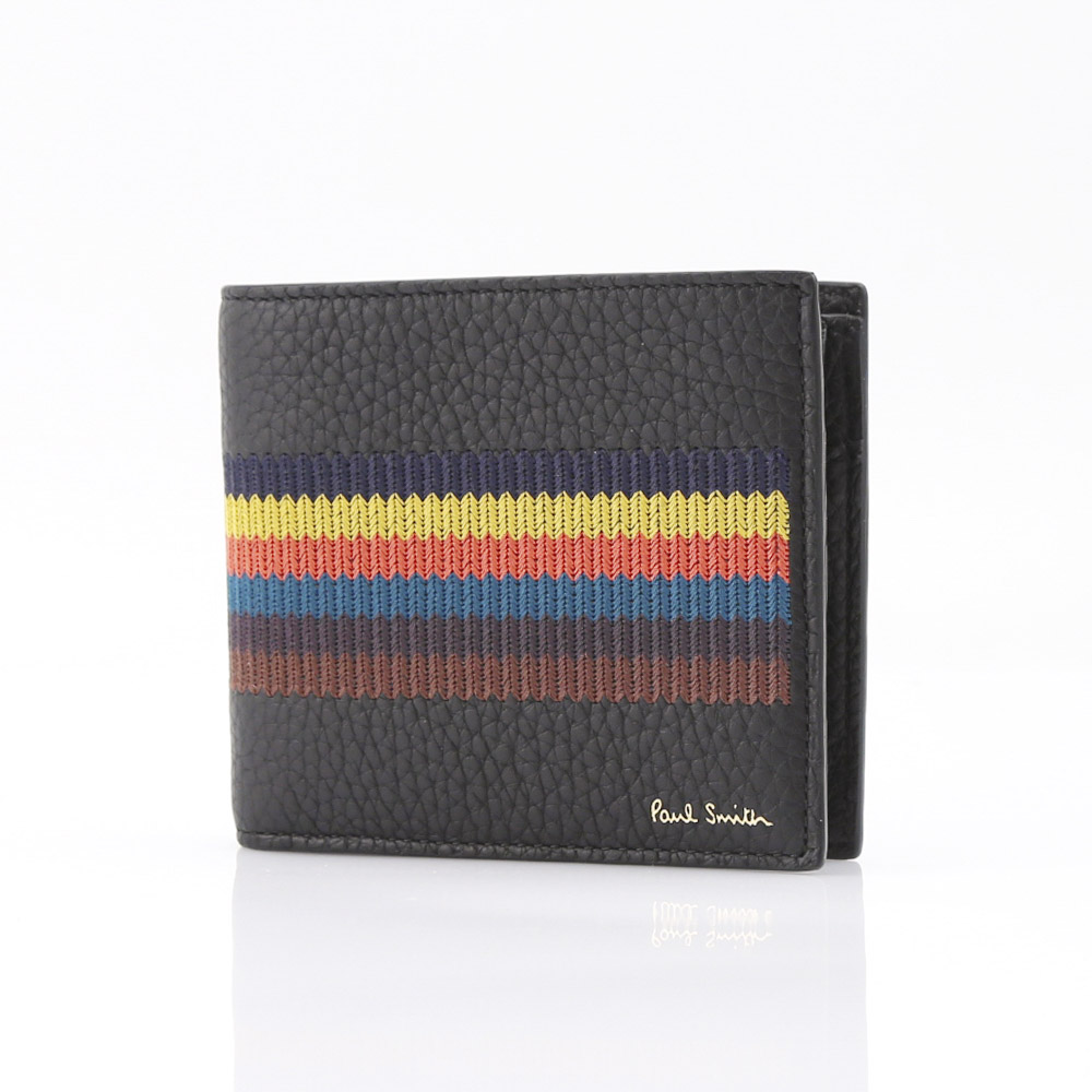 Paul Smith ポールスミス EMBRIODEREDストラ折小銭 M1A4833/A40074/BK ブラック/コンビ  【FITHOUSE ONLINE SHOP】