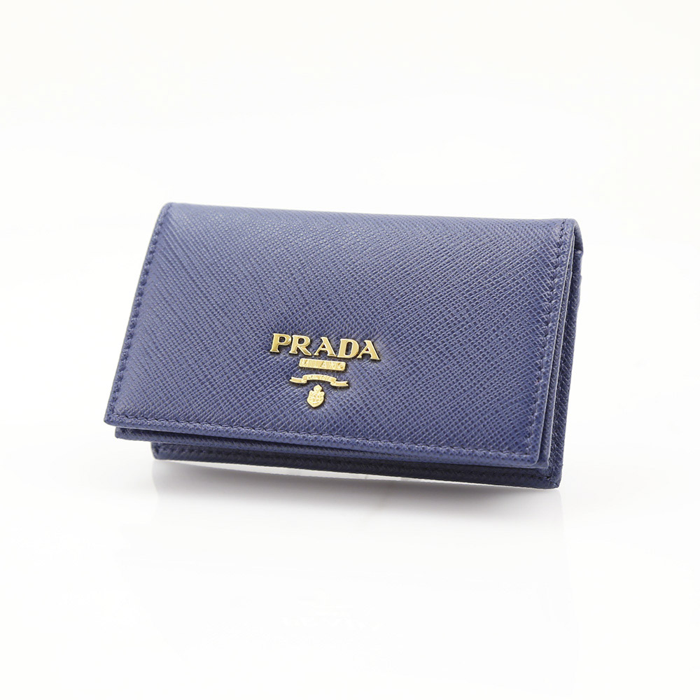 プラダ 名刺入れ SAFFIANO METAL ORO PRADA 1MC122 QWA BLUETT【FITHOUSE ONLINE SHOP】