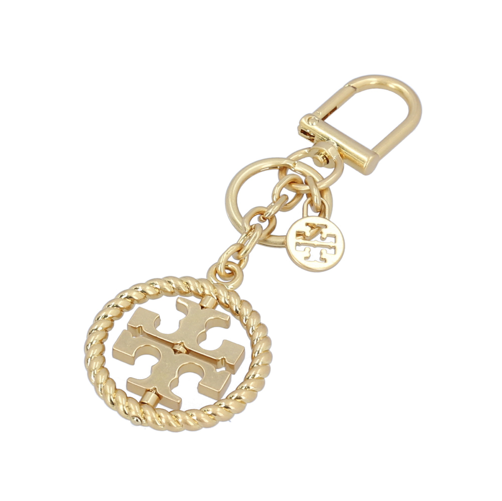 TORY BURCH TWISTED LOGO KEY FOB 61097 ギフトラッピング無料