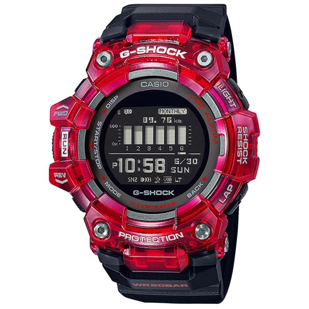 ジーショック G-SHOCK 腕時計 G-SQUAD Bluetooth デジタルMウォッチ GBD-100SM-4A1JF【FITHOUSE ONLINE SHOP】