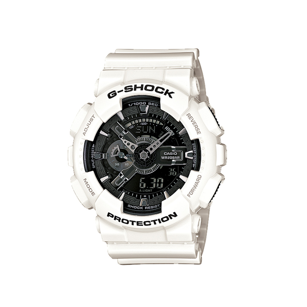 ジーショック G-SHOCK 腕時計 (whiteandblack)Mウォッチ GA-110GW-7AJF【FITHOUSE ONLINE SHOP】
