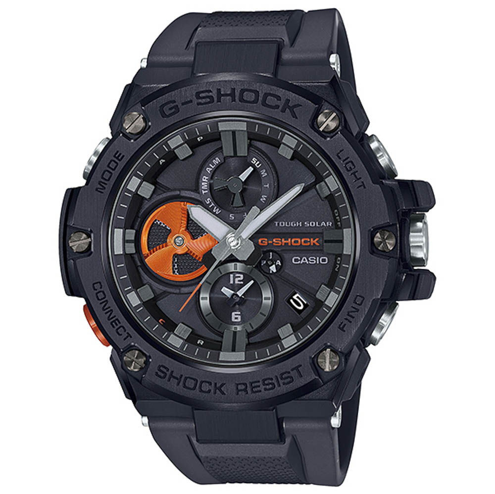ジーショック G-SHOCK 腕時計 G-STEEL BLACK×High Tech Accent Mウォッチ GST-B100B-1A4JF【FITHOUSE ONLINE SHOP】