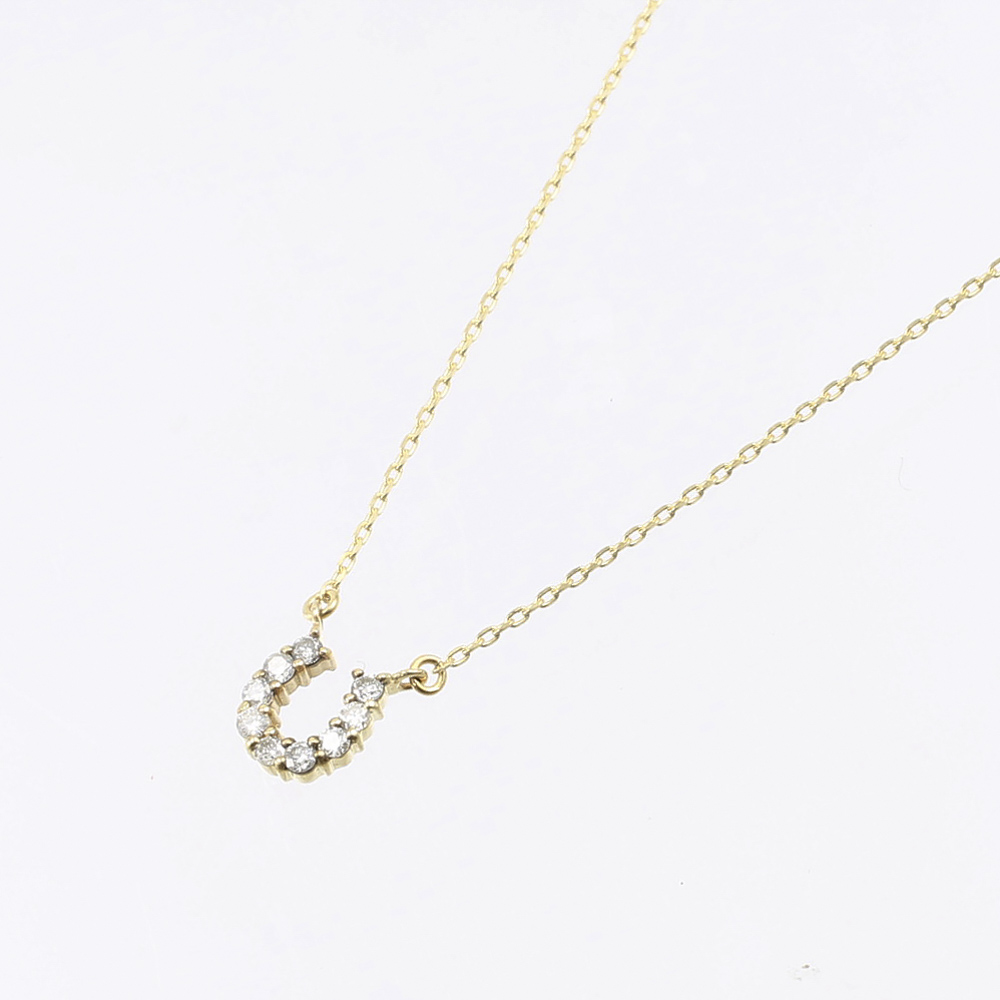 シェリークラン cheriecrin ネックレス 蹄型0.09ct K10YG NC  K10 YG 0.09ct SCN-0002【FITHOUSE ONLINE SHOP】